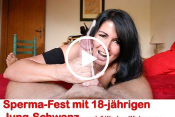 Alexandra-Wett: Sperma-Fest mit 18-jährigen Jung-Spritzer! 9 Spritzer!