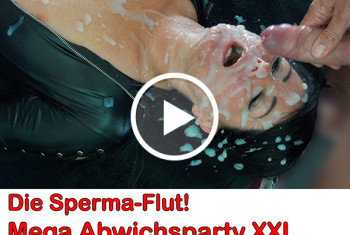 Alexandra-Wett: Die Sperma-Flut! Mega Abwichsparty XXL