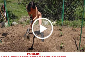 Alexandra-Wett: Publik! Voll erwischt beim Nacktgraben
