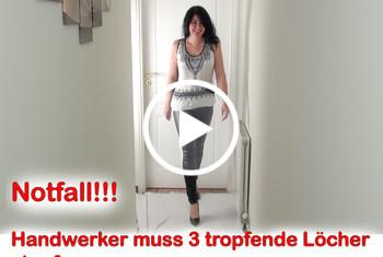 Alexandra-Wett: Notfall! Handwerker muss 3 leckende Löcher stopfen!