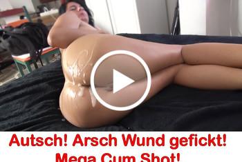 Alexandra-Wett: Autsch! Arsch Wund gefickt! Mega Cum Shot!
