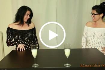 Alexandra-Wett: Perverse Dschungelprüfung! Die Sperma-Challenge