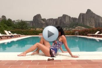 Alexandra-Wett: 3-Fach Sperma-Überflutung im Urlaubshotel
