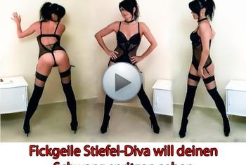 Alexandra-Wett: Fickgeile Stiefel-Diva will dich spritzen sehen