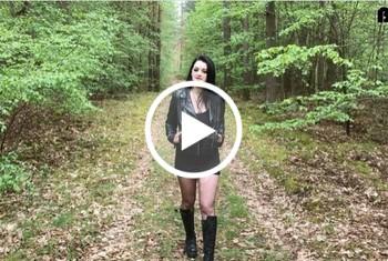 AlissaNoir: Spanner im Wald abgemolken