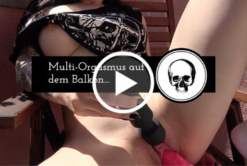 AlissaNoir: Multi-Orgasmus auf dem Balkon