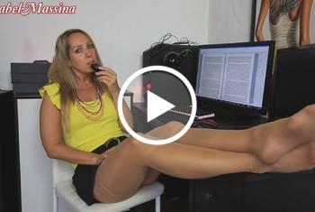 AnnabelMassina: Perverser PC Maus Fick im Büro
