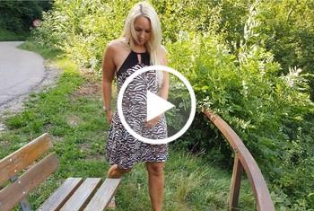 AnnabelMassina: Mein erster public Squirt, extrem nasse Action