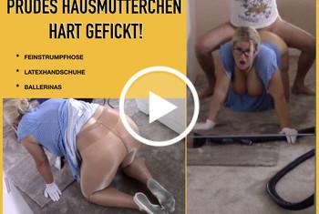 Fitness_Maus: Prüdes HAUSMÜTTERCHEN hart GEFICKT!