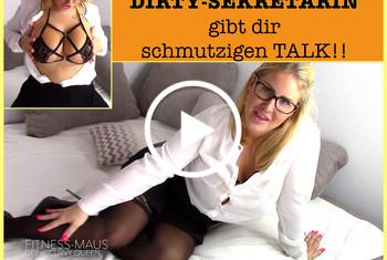 Fitness_Maus: DIRTY-SEKRETÄRIN gibt dir SCHMUTZIGEN TALK!!