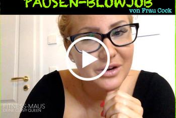 Fitness_Maus: Pausen-Blowjob von Frau Cock! Dirty-Talk