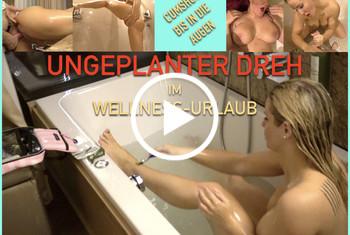 Fitness_Maus: UNGEPLANTER DREH im WELLNESS-URLAUB! er spritzt bis in die Augen