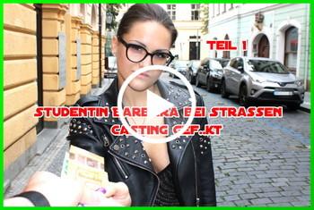 German-Scout: Studentin Barbara bei Strassen Casting gefickt Teil 1