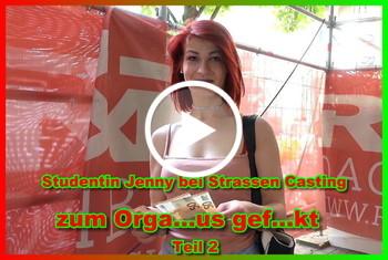 German-Scout: Studentin Jenny bei Strassen Casting zum Orgasmus gefickt Teil 2