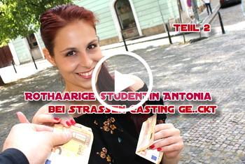 German-Scout: Rothaarige Studentin Antonia bei Strassen Casting gefickt Teil 2