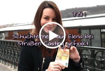 German-Scout: Schüchterne Maus Elena bei Straßen Casting gefickt Teil 1