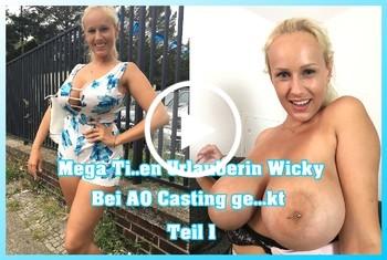 German-Scout: Mega Titten Urlauberin Wicky bei AO Casting gefickt Teil 1