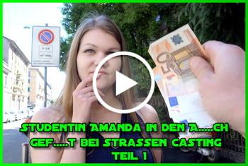 German-Scout: Studentin Amanda in den Arsch gefickt bei Strassen Casting Teil 1