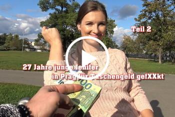 German-Scout: 27 Jahre junge Jenifer in Prag für Taschengeld gefickt Teil 2