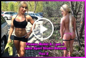 German-Scout: Fitness Model Anal gefickt nach Sport Studio Besuch Teil 2