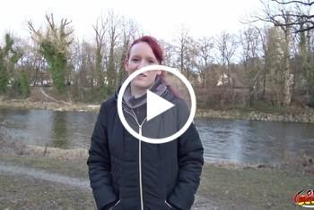 German-Scout: Rothaarige Ella in München angesprochen und direkt gefickt Teil 1