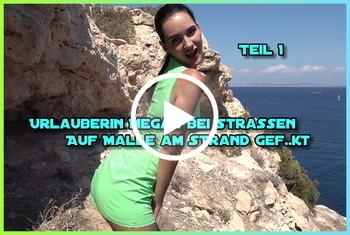 German-Scout: Urlauberin Megan bei Strassen Casting auf Malle am Strand gefickt Teil 1