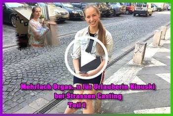 German-Scout: Mehrfach Orgasmen für Urlauberin Kinuski bei Strassen Casting Teil 1