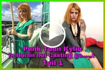 German-Scout: Punk Teen Kylie in Berlin bei Casting gefickt Teil 1