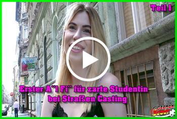 German-Scout: Erster Anal Fick für zarte Studentin bei Straßen Casting Teil 1