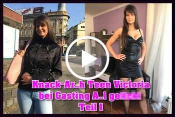German-Scout: Knack-Arsch Teen Victoria bei Casting Anal gefickt Teil 1