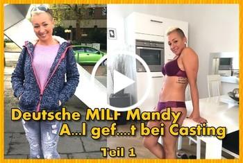 German-Scout: Deutsche MILF Mandy Anal gefickt bei Casting Teil 1