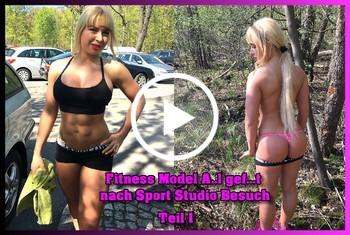 German-Scout: Fitness Model Anal gefickt nach Sport Studio Besuch Teil 1