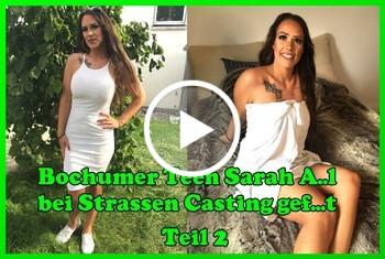 German-Scout: Bochumer Teen Sarah Anal bei Strassen Casting gefickt Teil 2