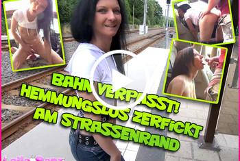 Laila-Banx: Bahn verpasst! Hemmungslos zerfickt am Strassenrand