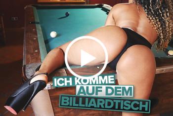 Leyla-Lips: Ich komme auf dem Billiardtisch!