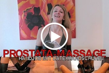 LissLonglegs: Prostata-Massage I Handjob mit Latexhandschuhen
