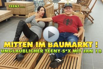 QueenParis: Mitten im Baumarkt ! Unglaublicher Teeny-Sex mit Jan 18 !!!
