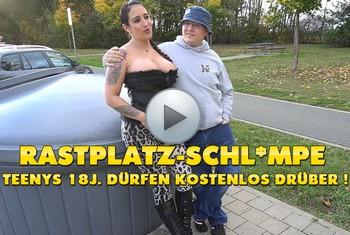 QueenParis: Rastplatz-Schlampe ! Teenys 18J. dürfen kostenlos DRÜBER !!!