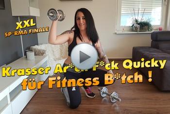 QueenParis: Krasser Arsch Fick Quicky für Fitness-Bitch ! XXL Sperma Finale !!!