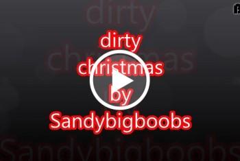 Sandybigboobs: 60. dirty christmas mit Titel