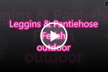Sandybigboobs: Leggins und Pantiehose Fetish outdoor