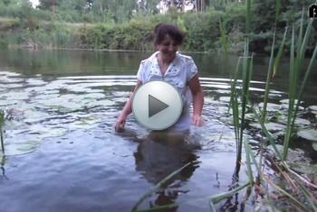 kukolka: Swimming in river