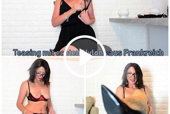 sexyrachel84: Teasing mit echten Nylons aus Frankreich